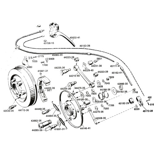 スプリンガー用フロントアクスルスリーブ 43882-36