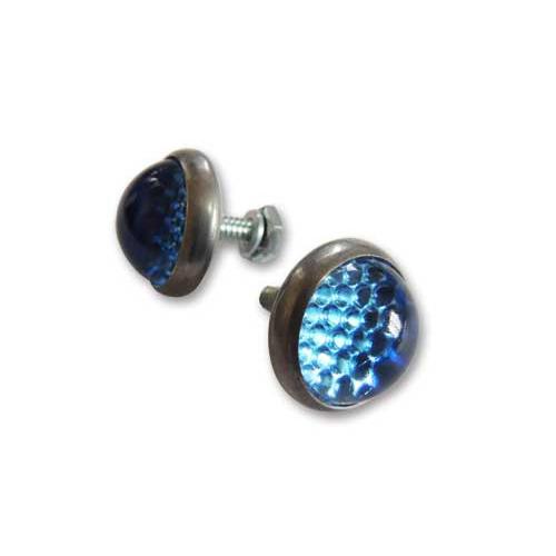 ライトブルー ガラスライセンスプレートリフレクター