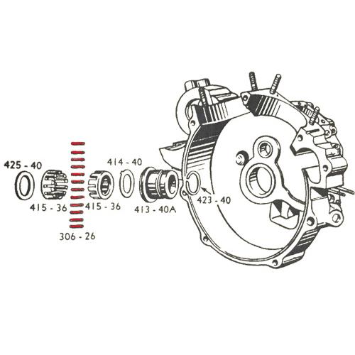 1937-54年 ピニオン ライトケースローラーベアリング 12個