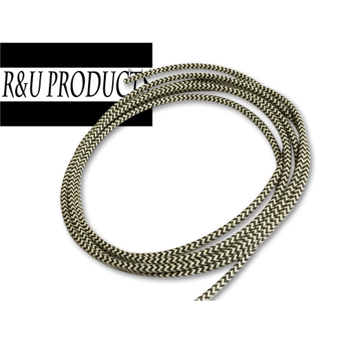 R&U ヘリンボーン布巻き【配線】 ブラック/ホワイト