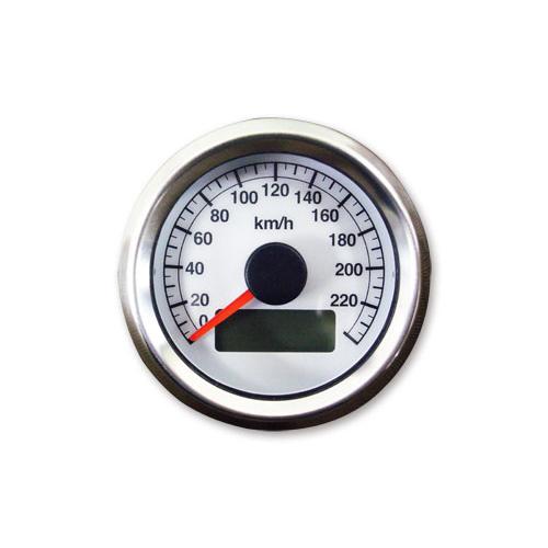48mm アジャスタブルスピードメーター1995年以降電気式メーター用 白