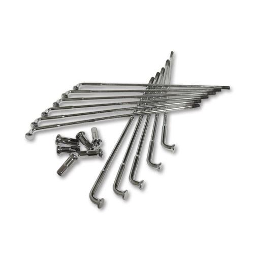 スポークセット 18コンベンショナル/19インチ 鉄ハブ用クローム