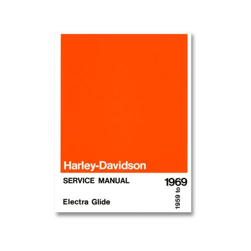ハーレー純正 英語サービスマニュアル 1959-69年ビッグツイン