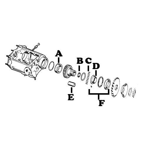 4速トランスミッション スモールパーツ レース/ベアリング/スペーサー/ブッシュ