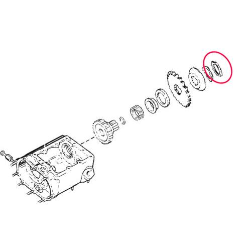メインシャフトスプロケットナット1936-92年BT用