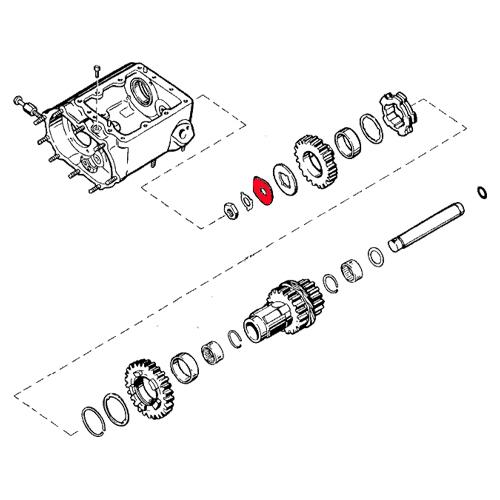 4速カウンターシャフトロックプレート35630-36