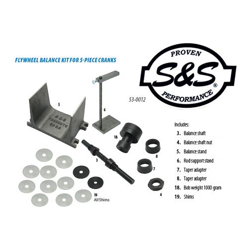 S&S フライホイールバランシングツール 36-84年BT / 57-85XL用